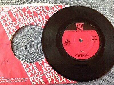 THE TRUTH - GIRL / JAILER BRING ME WATER rare UK 1966 / MOD / THE BEATLES / MINT