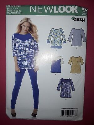 2a7221d6661c95 SIMPLICITY NEW LOOK shirt vest blouse sewing pattern No 6952 Size A ...
