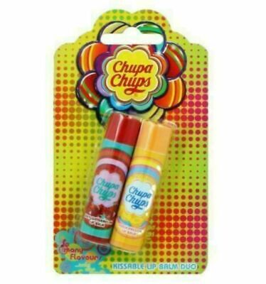 Chupa Chups Lip Balm Duo Juicy Watermelon + Peach Passion Only £1.99 Free Post !