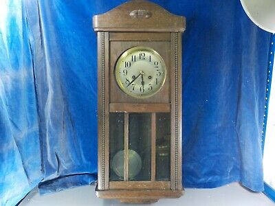 Vintage Oak Wall Clock - Early 20th C [1028]