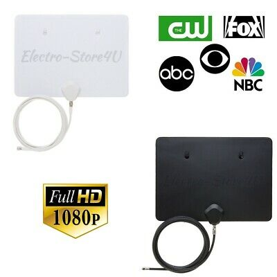 HDTV Antenna Digital HD TV Amplified Ultra Thin 40 Miles Range Indoor 1080p
