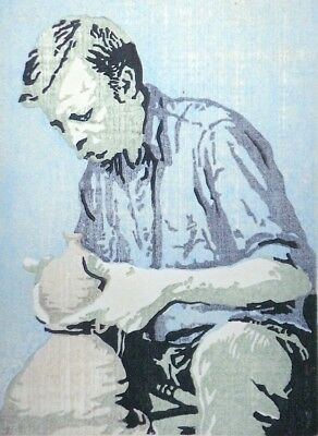 Japanese Woodblock Print of Clifton Karhu, by Ted Colyer