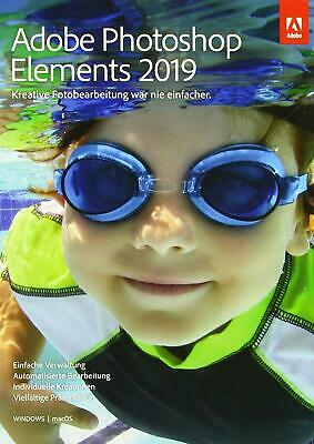 Software Adobe Photoshop Elements 2019 Vollversion, Bilder bearbeiten, 1Benutzer