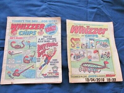 2 x Whizzer and Chips 27th May 1978  &  1st November 1975