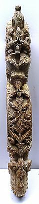 Antique Mughal Art Bracket Architectural Curved Wooden Corbel Indian Elephant