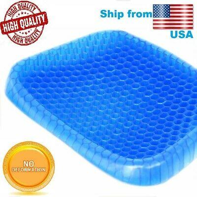 Egg gel Sitting Cushion with Cover, Breathable Honeycomb flex sitter seat pad