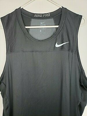 6295706fcc9f2 NIKE PRO COMBAT Core Fitted Tank Men s Sleeveless Training Top Red ...