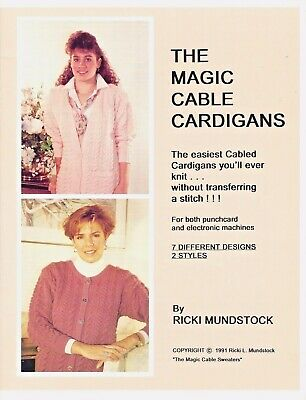 MAGIC CABLE CARDIGANS by Ricki Mundstock - Cables without Transferring PC & Elec