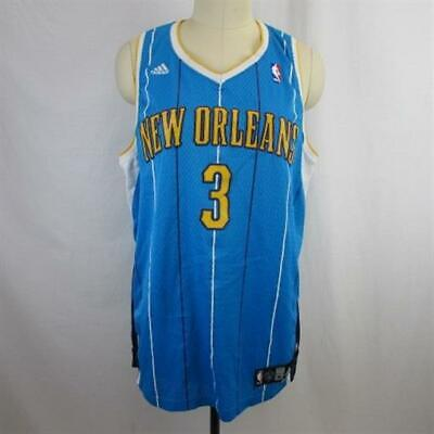 new arrival cd418 3c6f1 Adidas NBA Blue Yellow New Orleans Chris Paul  3 Basketball Jersey SZ XL  Long