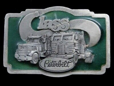 Rk07123 Vintage 1978 **Peterbilt Class** Truck Advertisement Belt Buckle