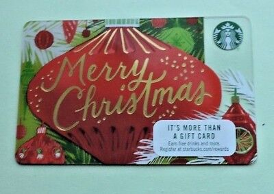 Starbucks Usa Merry Christmas 2017 Gift Card. No Value Collectors Item