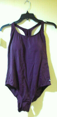 5973113c5c0ac NABAIJI Swimsuit Women's Racerback Sporty Purple Hi Cut One Piece, US-Size L
