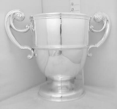 314 Very Large,Very Heavy, Antique, English Sterling Silver Trophy Loving Cup