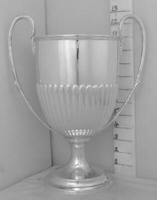 391 Large Antique English Sterling Silver Trophy Loving Cup Not Inscribed