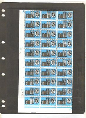 Gb British Westminster Abbey 1966 Full Sheet 120 Mnh Stamps T/l Cyl Collectables