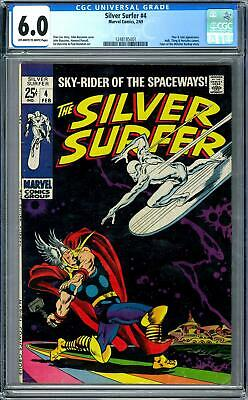 Silver Surfer #4 CGC 6.0 (OW-W) Classic Cover