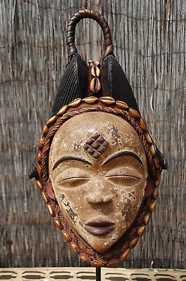Punu Face Mask with Hook and Cowl 1 , Gabon