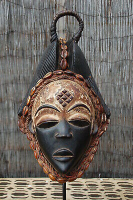 Punu Face Mask with Hook and Cowl 2 , Gabon