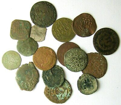 Lot of 16 _ medieval & misc coins_interesting study group
