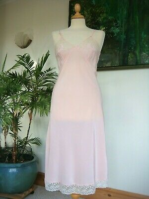 Beautiful Original Vintage 1940's Silky Pale Pink Slip Size 34""
