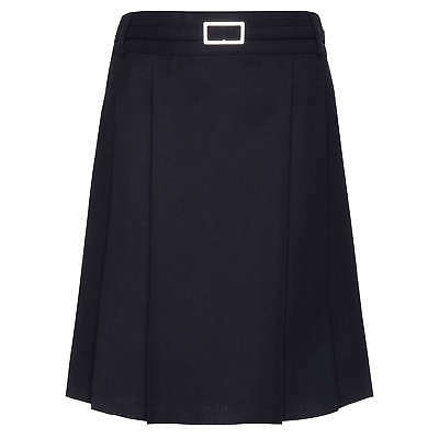 John Lewis Girls' Adjustable Waist Belted School Kilt, Navy Age 16 BNWT RRP £17