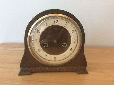 VINTAGE SMITHS ENFIELD MANTEL CLOCK with original key - untested