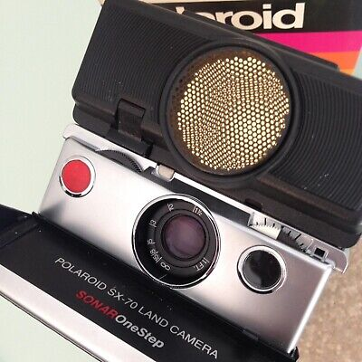 Polaroid Sx70 Land Camera Sonar Onestep In Box In Perfect Working Condition!!