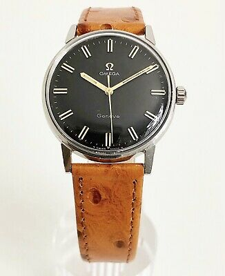 Omega Geneve Black Dial Cal. 601 Dating To 1968