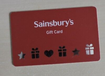 Used Sainsbury's Corporate Gift Card. No Value. Collectors Item.