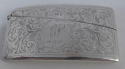 Solid Silver Card Case Dates 1908