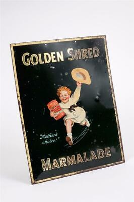 """Rare Vintage~ c1910~ """"Robertson's~ Golden Shred Marmalade"""" Lithographed Tin Sign"""