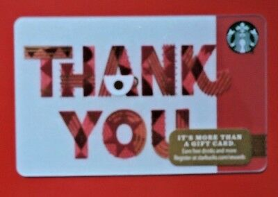 Starbucks Usa Holiday Thank You 2017 Gift Card. No Value Collectors Item