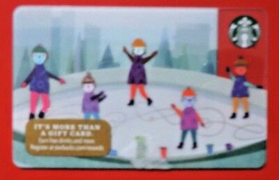 Starbucks Usa Ice Rink 2017 Gift Card. No Value Collectors Item