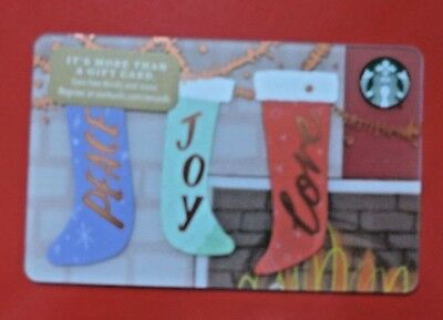 Starbucks Usa  Christmas Stockings 2017 Gift Card. No Value Collectors Item