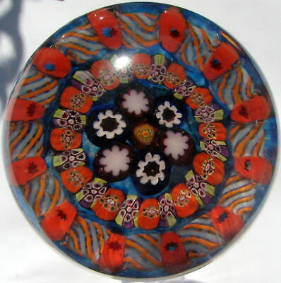 Large Paul Ysart Millefiori Paperweight  / Briefbeschwerer