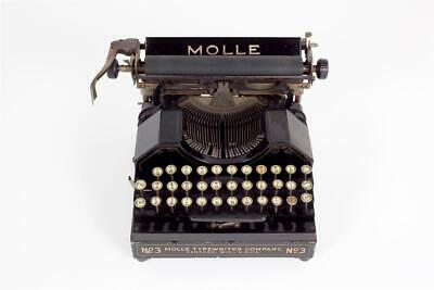 "Vintage ~ c1920 ~ ""Molle No. 3"" ~ Typewriter ~Working ~ Serial Number 2976"