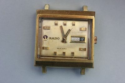Rado Manhatten Water-Sealed Tag und Datum Day Date, 1960er Jahre