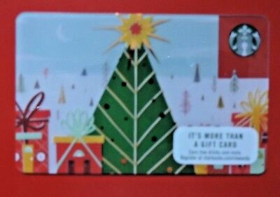 Starbucks Usa Christmas Wrapped City 2017 Gift Card. No Value Collectors Item