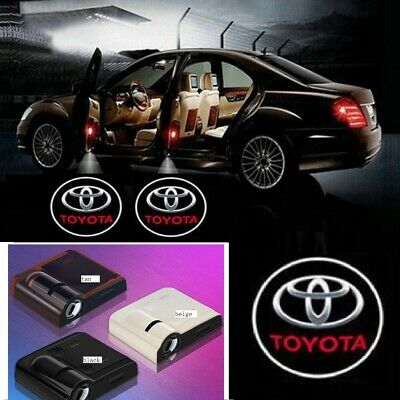 2pcs LED Car Door Logo Courtesy Projector Laser Ghost Shadow Light For TOYOTA