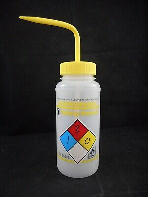 FISHERBRAND Plastic 500mL Wide Mouth LDPE ISOPROPANOL Labeled Safety Wash Bottle