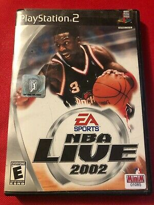 NBA Live 2002 (Sony PlayStation 2, 2001) (CIB) (GD)
