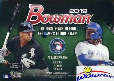2019 Bowman Baseball EXCLUSIVE Factory Sealed Blaster Box-72 Cards! On Fire!