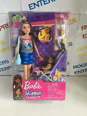 Barbie Skipper Babysitters Inc Stroller Playset with Doll & Accessories Box Poor
