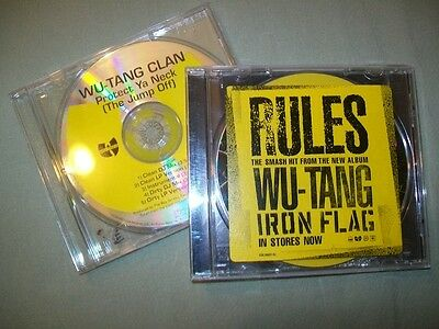 Wu-Tang Clan Promo CD Lote Proteger ya Cuello Rules