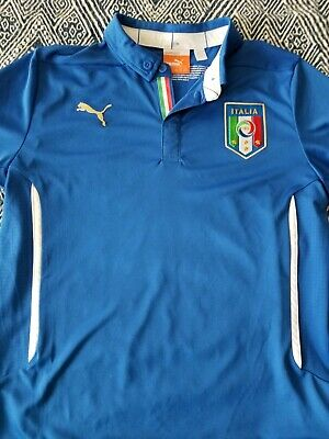 9af52dfa4 Puma Italia Italy FIGC Home Soccer Jersey Youth Boys Large Blue