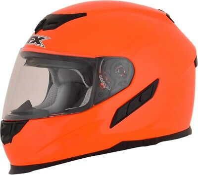 AFX FX-105 Solid Full Face Motorcycle Helmet XS Safety Orange