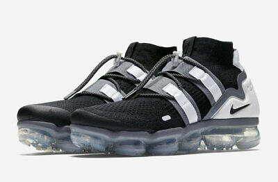 DS Nike Men's Air VaporMax FK Utility Flyknit Black Cool Grey AH6834 003 Size 12
