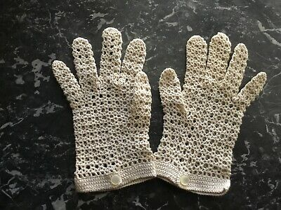 Hand Crocheted cotton gloves New