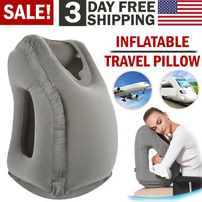 Inflatable Air Travel Pillow Airplane Head Cushion Neck Support Office Nap Rest