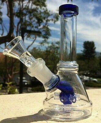 Collectible Tobacco Glass Water Pipe Bong Bubbler Hookah w Shower Head Perc